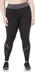 JUST MY SIZE Women's Plus Size Active Mesh Pieced Run Legging