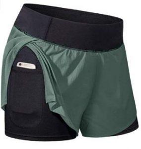 Kimmery Women Elastic Waist Workout Shorts
